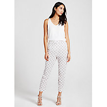 Buy Beach by Mint Velvet Luisa Print Tapered Trousers, Multi Online at johnlewis.com