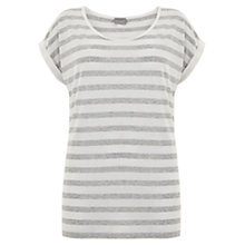 Buy Hygge by Mint Velvet Stripe T-Shirt, Grey/Ivory Online at johnlewis.com