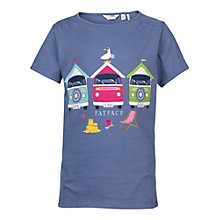 Buy Fat Face Girls' Aloa Beach Hut T-Shirt, Ink Online at johnlewis.com