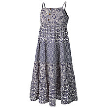 Buy Fat Face Girls' Isla Mixed Print Dress, Light Navy Online at johnlewis.com