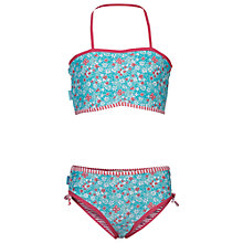 Buy Fat Face Girls' Floral Bikini Set, Dusky Aqua Online at johnlewis.com