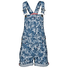 Buy Fat Face Girls' Floral Short Dungarees, Ink Online at johnlewis.com