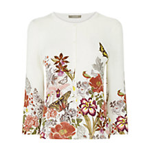 Buy Oasis Botany Crew Cardigan, Light Neutral Online at johnlewis.com