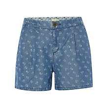 Buy White Stuff Flower Dot Short, Denim Online at johnlewis.com