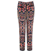 Buy Oasis Paisley Print Peg Trousers, Multi Online at johnlewis.com