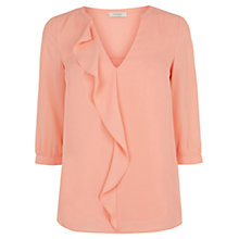 Buy Oasis V-Neck Frill Top Online at johnlewis.com