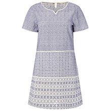 Buy White Stuff Embroidered Tunic Dress, Purple/Grey Online at johnlewis.com