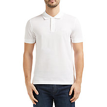 Buy BOSS Green Firenze Logo Polo Shirt, White Online at johnlewis.com