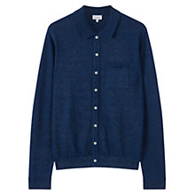 Buy Jigsaw Indigo Button Through Knit Shirt, Indigo Online at johnlewis.com