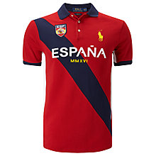 Buy Polo Ralph Lauren Spain Polo Shirt, Country Red/Multi Online at johnlewis.com