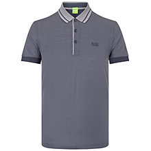 Buy BOSS Green Firenze Short Sleeved Polo Shirt, Navy Online at johnlewis.com