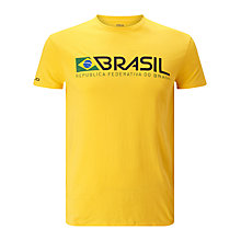 Buy Polo Ralph Lauren Crew Neck Brazil T-Shirt, Racing Yellow Online at johnlewis.com