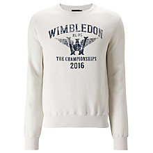 Buy Polo Ralph Lauren Wimbledon Long Sleeve Vintage Fleece Sweatshirt, Nevis Online at johnlewis.com