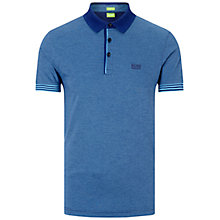 Buy BOSS Green Janis Polo Shirt, Open Blue Online at johnlewis.com
