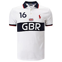 Buy Polo Ralph Lauren Great Britain Basic Mesh Short Sleeve Polo Shirt, Pure White/Heritage Navy Online at johnlewis.com