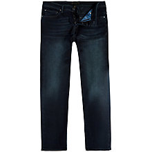 Buy Ted Baker Saticon Straight Jeans, Dark wash Online at johnlewis.com