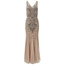 Buy Phase Eight Collection 8 Louise Embellished Dress, Antique Cream Online at johnlewis.com