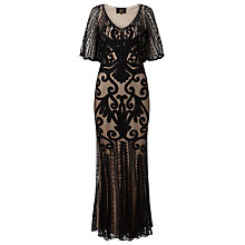 Buy Phase Eight Collection 8 Marseilles Tapework Dress, Black/Nude Online at johnlewis.com
