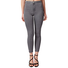 Buy Miss Selfridge Petite Steffi Super High Waist Skinny Jeans, Grey Online at johnlewis.com