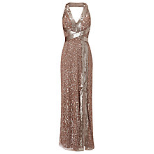 Buy Phase Eight Collection 8 Raphael Maxi Dress, Pale Gold Online at johnlewis.com