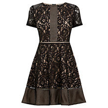 Buy Oasis Patched Lace Skater Dress Online at johnlewis.com
