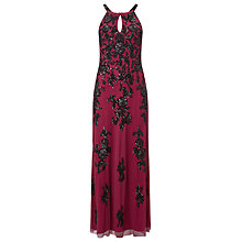 Buy Phase Eight Collection 8 Rochelle Embellished Dress, Raspberry Online at johnlewis.com