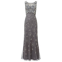 Buy Phase Eight Collection 8 Antibes Embellished Dress, Silver Online at johnlewis.com