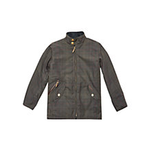 Buy Barbour Boys' Tartan Helmsdale Classic Jacket, Green Online at johnlewis.com