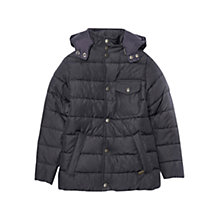 Buy Barbour Boys' Cowl Jacket, Navy Online at johnlewis.com