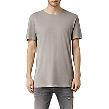 Buy AllSaints Extend Crew Neck Slim Fit T-Shirt, Steeple Grey Online at johnlewis.com