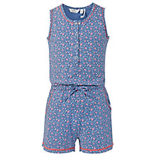 Buy Fat Face Floral Sleep Playsuit Pyjamas, Blue Online at johnlewis.com