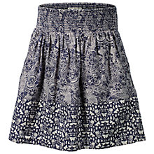 Buy Fat Face Girls' Doodle Mixed Print Skirt, Navy Online at johnlewis.com