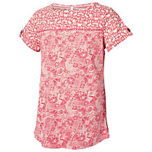 Buy Fat Face Girls' Doodle Print T-Shirt, Deep Coral Online at johnlewis.com