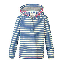 Buy Fat Face Girls' Woven Stripe Hoodie, Ink Online at johnlewis.com