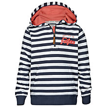 Buy Fat Face Girls' Heritage Stripe Hoodie, Navy/White Online at johnlewis.com