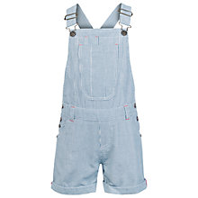 Buy Fat Face Girls' Stripe Short Dungarees, Ink Online at johnlewis.com