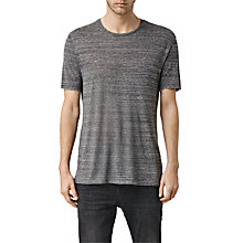 Buy AllSaints Jedro Crew Neck T-Shirt, Charcoal Online at johnlewis.com