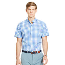 Buy Polo Ralph Lauren Short Sleeve Check Shirt, Blue/White Online at johnlewis.com