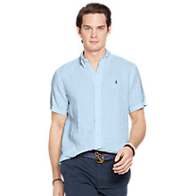 Buy Polo Ralph Lauren Slim Fit Button Down Linen Shirt Online at johnlewis.com