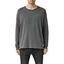 Buy AllSaints Gibbs Long Sleeve Crew Neck T-Shirt, Washed Black Online at johnlewis.com