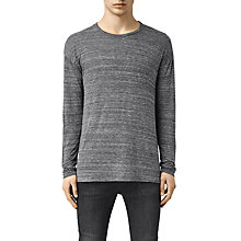 Buy AllSaints Lake Long Sleeve T-Shirt, Charcoal Online at johnlewis.com