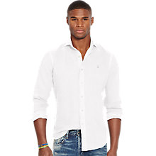 Buy Polo Ralph Lauren Slim Fit Spread Estate Pin Point Collar Long Sleeve Shirt, Pure White Online at johnlewis.com