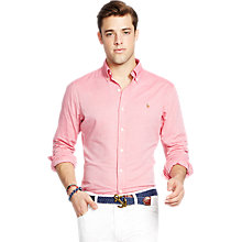 Buy Polo Ralph Lauren Button Down Slim Fit Shirt, Spanish Red/White Online at johnlewis.com