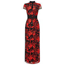 Buy Phase Eight Collection 8 Ella Embellished Dress, Black/Flame Online at johnlewis.com