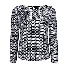 Buy Phase Eight Daisy Blouse, Black/Ivory Online at johnlewis.com
