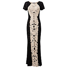 Buy Phase Eight Collection 8 Zena Tapework Full Length Dress, Black/Ivory Online at johnlewis.com