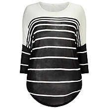 Buy Studio 8 Janet Top, Black/Ivory Online at johnlewis.com