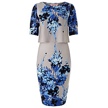 Buy Phase Eight Lauren Tiered Dress, Grey/Blue Online at johnlewis.com
