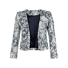 Buy Hobbs Josie Jacket, Navy/Ivory Online at johnlewis.com