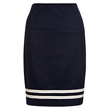 Buy Hobbs Pier A Line Skirt, Navy Online at johnlewis.com